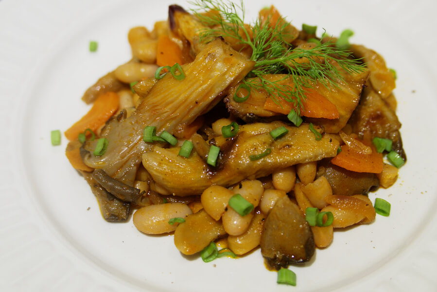 Fagioli Con Funghi Pleurotus Naty In Cucina