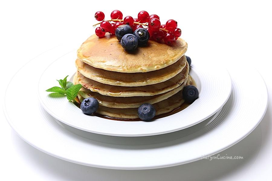 Pancakes coi Mirtilli