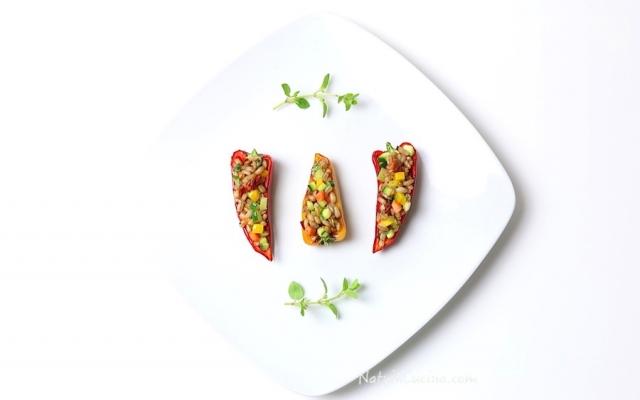 Mini peperoni Ripieni di Farro