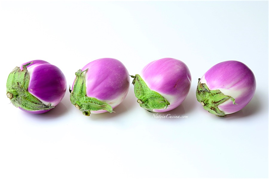 Melanzane ripiene con patate, timo,pomodori,sale affumicato